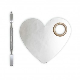 Mixing Palette Stainless Heart