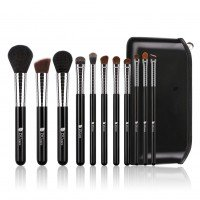 Ducare A1103 11 in 1 Bubble Black Makeup Brush Set