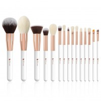 Ducare DF1539 15 in 1 Ultimate White Makeup Brush Set