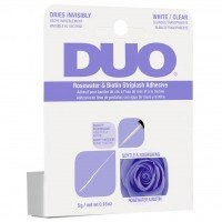 DUO Brush On Striplash Adhesive Rosewater & Biotin - CLEAR (5g) (Purple)