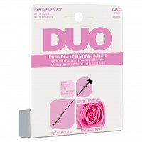 DUO Brush On Striplash Adhesive Rosewater & Biotin - DARK (5g) (Pink)